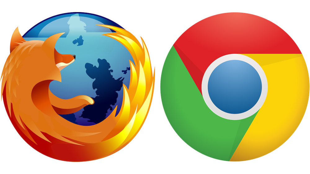 Firefox e Chrome.